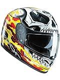 Casco Moto Hjc Marvel Fg-St Ghost Rider Rosso-Giallo (M , Rosso)