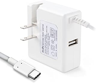 Ewin® ACアダプター Type-Cケーブル一体型 USB 充電器 type-c 充電器 AC急速充電 折りたたみ式プラグ搭載 変換プラグ 1.5mケーブル DC 15W, 5V 3A (合計) 出力 Google 5X/6P/Pixel/...