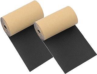 Patch de canapé, Ruban de réparation en cuir Tape de réparation de siège auto adhésif pour canapés meubles 2pcs noir