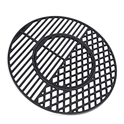 """X Home 8835 Cast Iron Grill Grates for Weber 22.5 inch Charcoal Grills, Kettle, Performer, Gourmet BBQ System Sear Grate, 21.5"""" x 21.5"""""""