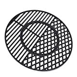 X Home 8835 Cast Iron Grill Grates for Weber 22.5 inch Charcoal Grills, Kettle, Performer, Gourmet BBQ System Sear Grate, 21.5' x 21.5'