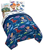 Jay Franco Blippi Dino Fun 4 Piece Twin Bed Set - Includes Comforter & Sheet Set Bedding - Super Soft Fade Resistant Microfiber (Official Blippi Product)