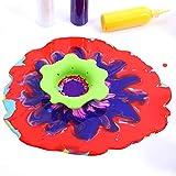 Leinuosen 3 Stück Acryl Gießen Siebe Kunststoff Silikon Sieb Blume Ablassen Korb Acryl Malen Gießen Vorräte - 7