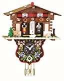 Trenkle Reloj en Miniatura de la Selva Negra casa Suiza casita meteorológica