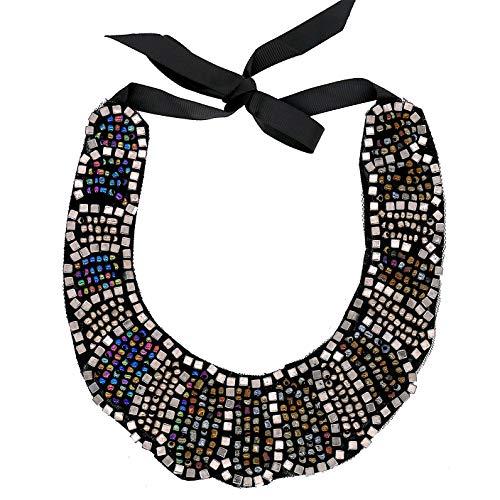 Modeschmuck Mädchen Lange Harz Handgemachte Grau Perlen Bib Halsketten Für Frauen