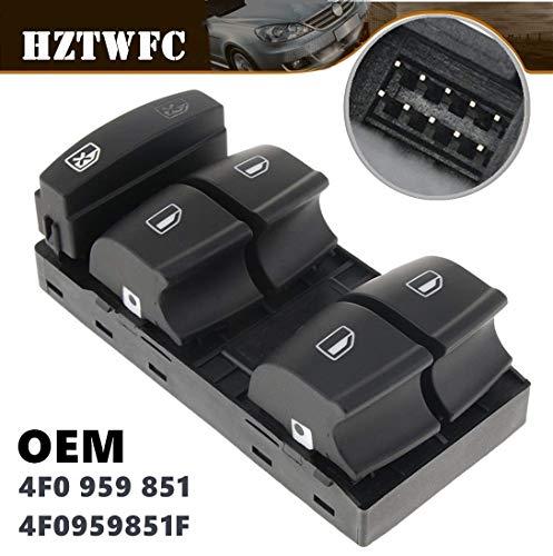 HZTWFC Pulsante dell'interruttore di controllo della finestra Master lato conducente OEM # 4F0 959 851 4F0959851F