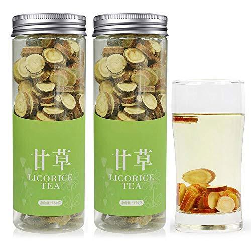 煕渓 甘草片 甘草茶300g(150g*2) 花茶 茶葉 薬膳茶 漢方 料理の甘味料として 有機100%天然 砂糖の代わりに使う