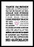 artissimo, Spruch-Bild gerahmt, 51x71cm, PE6001-ER, Tanze