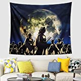 Demon Art Tapestry Anime Art Tapestry Teenage Boys and Girls Cartoon Poster Background Tapestry, Which Can Be Used In Living Room, Bedroom And Birthday Themed Animation