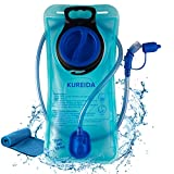 KUREIDA Hydration Bladder 2 Liter Leak Proof Water Reservoir,BPA Free,Wide Opening,Military Water Bladder Combined with Hydration Backpacks for Biking Hiking Running Camping Climbing.Blue14.2Inch