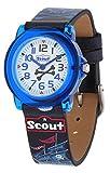 Scout Jungen Analog Quarz Uhr mit Lederimitat Armband 280305016