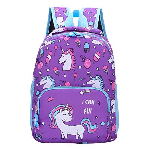 Baby-Schultasche,Rosa Mädchen Prinzessin Rucksack Kleinkind Daypack Cartoon Print kleine Kinder tanzen Tasche Schulranzen für Kindergarten Vorschule Reisetasche, 1-7 Jahre alt für Kinder und Studenten