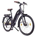 """NCM Milano Bicicletta elettrica da Trekking, 250W, Batería 48V 13Ah 624Wh 28"""" Nero"""