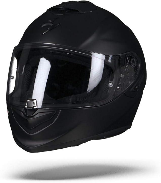 Scorpion casco moto exo-1400 air solid opaco nero 14-100-10-02