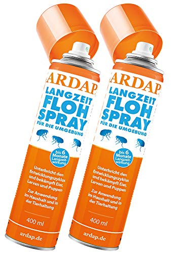 Ardap Langzeit Flohspray für die Umgebung 2 x 400ml