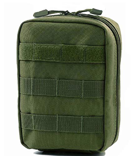 Tactical MOLLE EMT IFAK Pouch, Camping Medical First Aid Kit Utility Pouch (Green)