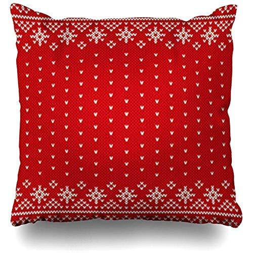 GFGKKGJFF0902 Strickpullover, Skandinavischer Winter-Kissenbezug, 45,7 x 45,7 cm, Weihnachts-Kissenbezug, für Sofa, Geschenke für Mädchen