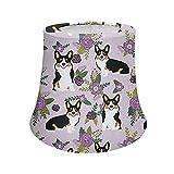 Cozeyat Purple Floral Corgi Lamp Shades with Metal Frame Desk Lamp/Table Lamp/Floor Lamp Shades Floor Lamps Shade Handmade Decor Table lamp for Dining Room