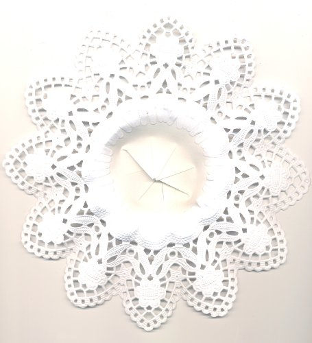 Biedermeier Manschetten 10Stück weiß innen 8 cm außen 18 cm