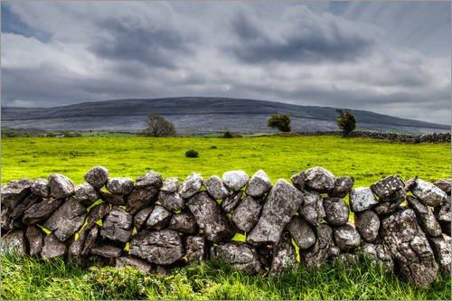 Acrylglasbild 130 x 90 cm: Irland - Burren County von Jürgen Klust - Wandbild, Acryl Glasbild, Druck auf Acryl Glas Bild