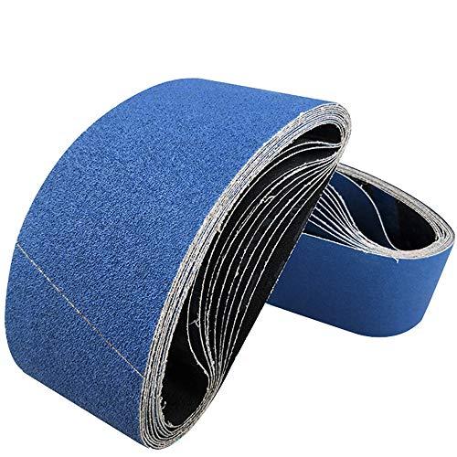 GGOII Schleifband 5 Stück 100 x 915 mm 4 '' x 36 '' Schleifbänder Zirkonoxidblau Schleifband Körnung 40 60 80 120 Schleifband 100 x 915 mm