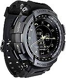Reloj Inteligente 1.16 'Pantalla BT4.0 Vida Impermeable Podómetro Calorías Alarma Deportes Hombres Smartwatch-Negro