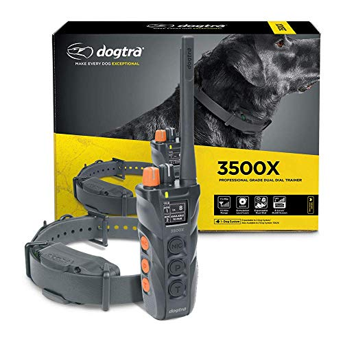 Dogtra 3500X Long Range IPX9K Waterproof 1.5-Mile Expandable Dual DIAL Remote Dog Training E-Collar for Professionals Competition and Working Dog Trainers
