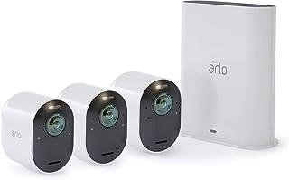 Arlo Ultra WLAN Überwachungskamera & Alarmanlage, Innen / Aussen, kabellos, Bewegungsmelder, 4K, Smart Home, Farbnachtsicht, 180 Grad Blickwinkel, 2 Wege Audio, Spotlight, VMS5340, Weiß