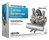 FRANZIS 67550 - Porsche Carrera Renn-Motor, hochwertiger Modell-Bausatz des 4-Zylinder Boxer-Motors, Maßstab 1:3, 300 Bauteile zum Stecken und Schrauben, inkl. Soundmodul, Anleitung und Begleitbuch