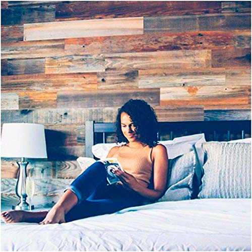 Weekend Walls - Reclaimed Weathered Redwood - 10, 20 or 40 Sq. Ft. DIY Easy Peel and Stick Wood Wall Paneling (Sample Pack, All 5 Colors)