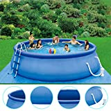 Lihais 2020 New Swimming Pool Family,15ft x 36in Quick Set Inflatable Above Ground Swimming Pool with Filter Pump for Kids & Adults (15ft x 36in)