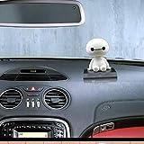 Scelet Robot sacudiendo la Cabeza Figura Coche Adornos Auto Decoraciones Interiores Grandes muñecas Blancas Juguetes Ornamento Accesorios