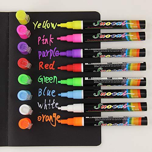 NIUPAN 8 markers uitwisbare multicolor markeerstift schrijfbord glazen raam art
