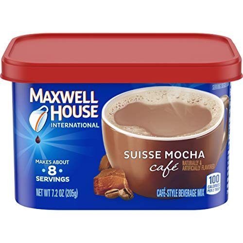 Maxwell House International Cafe Suisse Mocha Instant Coffee 72 oz Canisters Pack of 4