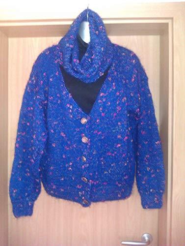 Plus Size Stickjacke, Jacke, Cape, Poncho, Pulli, Damen mit Loop und Beanie, Mütze Schal