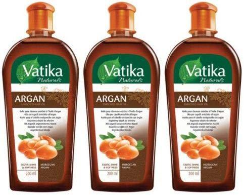 Dabur Vatika Argan Haaröl Ayurvedische Haarpflege Hair Oil 200 ml (3er)