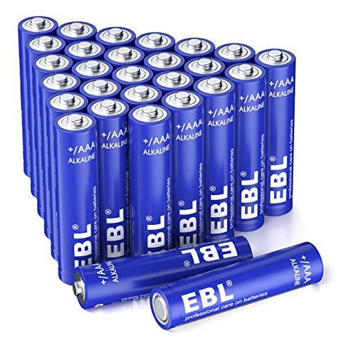 EBL AAA(Micro,LR03) Batterien 28 Stück, Super Alkaline Longlife Technologie,Vorratspack in umweltschonender Verpackung, 28er Pack