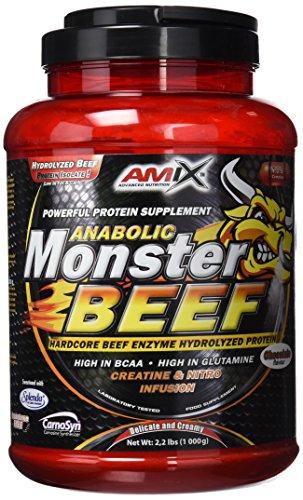 Amix - Proteína de Ternera, Monster Beef Protein, Favorece el Anabolismo Muscular, Rápida y Total Absorción, Baja en Hidratos de Carbono y Grasas, Proteína en Polvo, Proteína Hidrolizada, 1 Kg 🔥