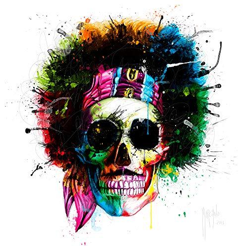 International Graphics Fertigbild - MURCIANO, Patrice - ''Woodstock Skull'' - 30 x 30 cm - Direktdruck auf Acryl