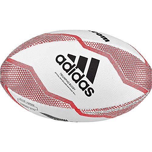adidas NZRU R B Mini Bola de Rugby, Boys, White/Black/Active Red/Legend Purple, 0