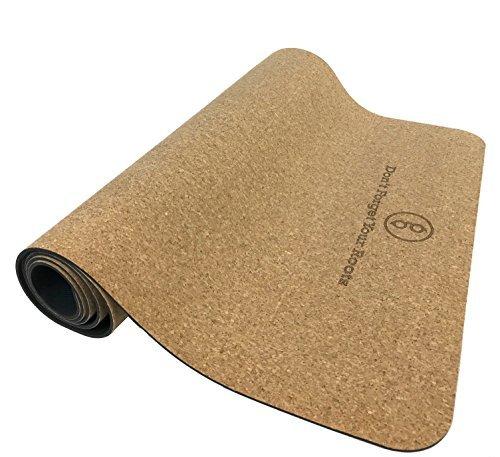 Cork Yoga Mat with Natural Rubber Bottom, Roots Eco Friendly Yoga Mat, Non Slip Yoga Cork Mat, 72x25 Inches - Gurus