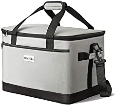 OlarHike 30 Liter Large Cooler Lunch Bag, Collapsible and Insulated Lunch Box Leakproof Cooler Bag for Camping, Picnic, BBQ, Family Outdoor Activities (Grey)