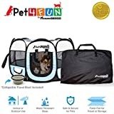 PET4FUN PN935 35' Portable Pet Puppy Dog Cat Animal Playpen Yard Crates Kennel w/ Premium 600D Oxford Cloth,...