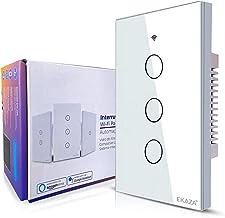 Interruptor Inteligente EKAZA 3 Botões Branco WiFi+BLE+RF, EKNH-T107-3W