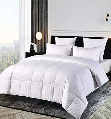 Blue Ridge Home Fashions 500 Thread Count Cotton Damask Duraloft Down Alternative Comforter - Full/Queen