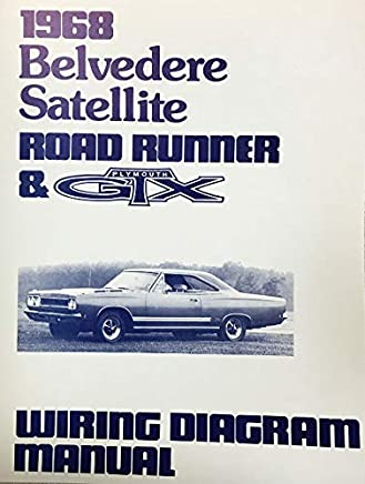 1968 plymouth satellite belvedere road runner & gtx factory electrical wiring  diagrams & schematics