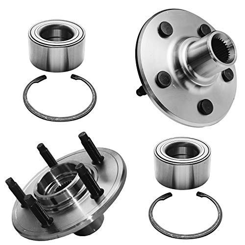Detroit Axle - 521000 Rear Wheel Hub & Bearing Assembly Replacement for Ford...