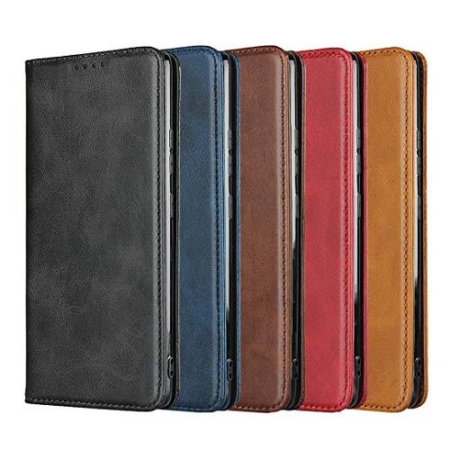 Hülle für Samsung Galaxy A31 Handyhülle, Premium PU Ledertasche, Magnetische PU Lederhülle Brieftasche Schutzhülle, Kompatibel mit Samsung Galaxy A31, Braun