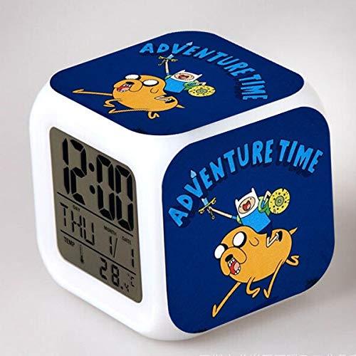 Yuandp Led-klok met verlichte digitale wekker past samen de kleuren van het avontuur 7 felle reloj despertador infantil op