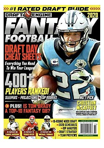 Draft Engine Magazine 2020 Fantasy Football NFL Panthers CHRISTIAN MCCAFFREY
